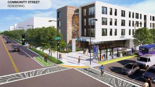 The northwest corner of 115th and Halsted streets sits at the intersection of West Pullman, East Morgan Park and West Roseland. Local leaders are working to redevelop the massive site into a mixed-use, community-driven project. (Courtesy Far South Community Development)