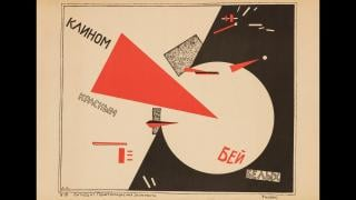 """El Lissitzky. """"Beat the Whites with the Red Wedge,"""" 1920. Ne boltai! Collection."""