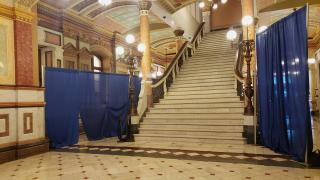 The statehouse is quiet on the eve of a special session. (Amanda Vinicky / WTTW News)