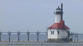 A scene from St. Joseph, Michigan, on Thursday, May 28, 2020. (WTTW News)