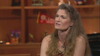 """Susan Russell appears on """"Chicago Tonight"""" on July 12, 2018."""