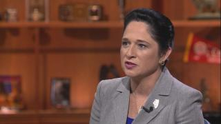 "Illinois Comptroller Susana Mendoza appears on ""Chicago Tonight"" on June 25, 2019."