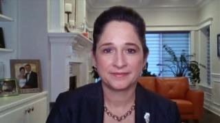 "Illinois Comptroller Susana Mendoza appears on ""Chicago Tonight"" via Zoom on Tuesday, March 16, 2021. (WTTW News)"