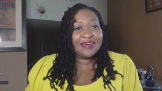 Sylvia L. Jones speaks with WTTW News via Zoom.