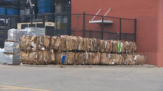 Unlike plastic, corrugated cardboard is highly recyclable. The Fibre Box Association says the industry's recovery rate hovers around 90%. (WTTW News)