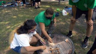 Teens can learn to build a fire, pitch a tent and work as a team as part of a new Chicago Park District program. (WTTW News)