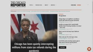 A screenshot shows the homepage of The Chicago Reporter website on Oct. 7, 2020. (WTTW News)