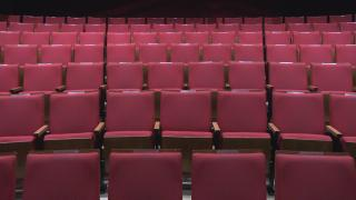 Theater seats are empty across the city in the age of COVID-19. (WTTW News)