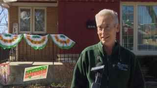 Tim McSweeney, co-chair of the South Side Irish Parade committee. (WTTW News)