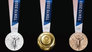 This image from video shows the Tokyo Olympics medals. The Games kick off Friday, July 23 and run through Aug. 8. (Credit: Tokyo Olympics)