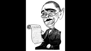 Barack Obama and the Constitution by Tom Bachtell (Courtesy of the artist)