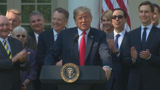"""We have successfully completed negotiations on a brand-new deal to terminate and replace NAFTA,"" President Donald Trump announced Monday, Oct. 1, 2018."