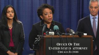 U.S. Attorney General Loretta Lynch announces the findings of a Department of Justice investigation into the Chicago Police Department on Jan. 13, 2017. (WTTW News)