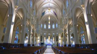 St. Columbanus Catholic Church is offering a hybrid option for parishioners this Holy Week and Easter. (WTTW News)