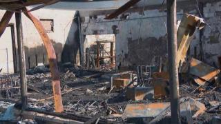 Damage in Kenosha, Wisconsin, on Aug. 27, 2020. (WTTW News)