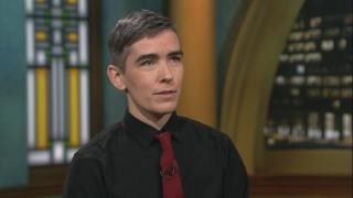 "Author Lewis Raven Wallace appears on ""Chicago Tonight."" (WTTW News)"