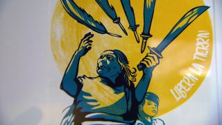 """A work of art featured in the exhibition """"¡Viva la Libertad!"""" at the Newberry Library. (WTTW News)"""