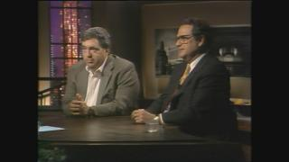 """Jerry Reinsdorf and Jerry Krause appear on """"Chicago Tonight"""" on June 17, 1996. (WTTW News)"""