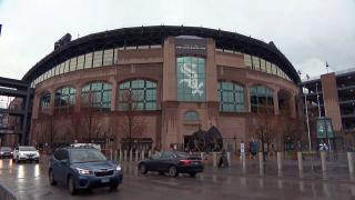 The White Sox home opener at Guaranteed Rate Field was a rainy affair on Thursday, April 8, 2021. (WTTW News)
