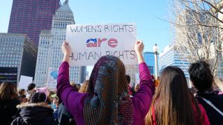 A crowd estimated at 250,000 participated in the 2017 Women's March on Chicago. (Alexandra Silets / Chicago Tonight)