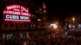 Cubs Fans Celebrate Win for the Ages