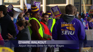 O'Hare Workers Go On Strike