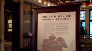 Cartoonists of the Gilded Age on Display at Driehaus Museum