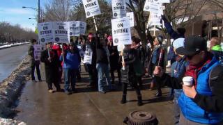 February 18, 2014 - UIC Faculty Strikes