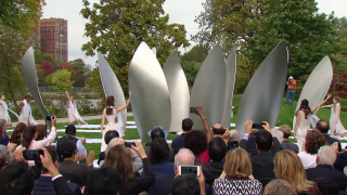New Sculpture by Yoko Ono Seeks to 'Give Peace a Chance'