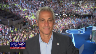 DNC: Emanuel Makes 1st Appearance Before Illinois Delegation