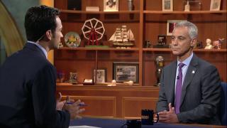 Mayor Emanuel Addresses Chicago Gun Violence, CPS Finances