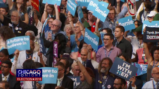Sanders Supporters Vocal on Day 1 of DNC