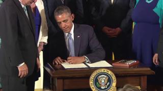 July 21, 2014-President Obama Signs LGBT Non-Discrimination