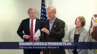 Gov. Rauner, Republicans Tout John Cullerton Pension Plan