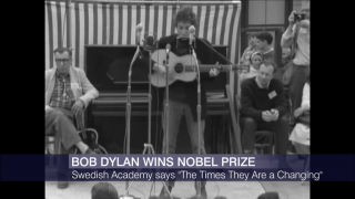 Times Are Changing: Bob Dylan Wins Nobel Prize in Literature