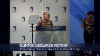 Clinton Clinches Historic Nomination But Sanders Vows to Con