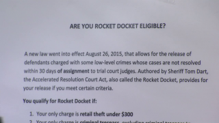 'Rocket Docket' Sends Low-Level Jail Inmates Home