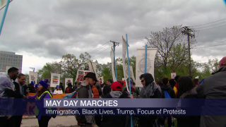 May Day Protests Take on Anti-Trump Fervor