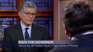 J.B. Pritzker Battles Crowded Democratic Field, Rauner