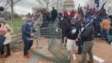 Pro-Trump supporters breach security gates at the U.S. Capitol on Jan. 6, 2021. (WTTW News via CNN)