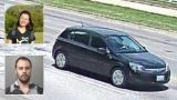 The black Saturn Astra Yingying Zhang was seen entering the day she disappeared. (Courtesy FBI) Inset, top: Yingying Zhang (Courtesy University of Illinois Police Department). Bottom: Brendt Christensen (Courtesy Macon County Sheriff's Department).