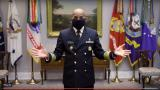 Surgeon General Jerome Adams demonstrates how to make a DIY cloth mask. (Centers for Disease Control and Prevention)