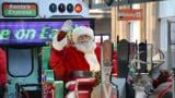 Riders won't be able to board the Holiday Train, but Santa's still coming. (Courtesy of Chicago Transit Authority)