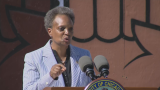 Mayor Lori Lightfoot urges Chicagoans to complete the 2020 census during a Wednesday, July 29, 2020 press conference at the DuSable Museum in Hyde Park. (WTTW News)