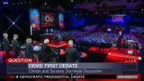 Clinton, Sanders Dominate First Democratic Presidential Deba