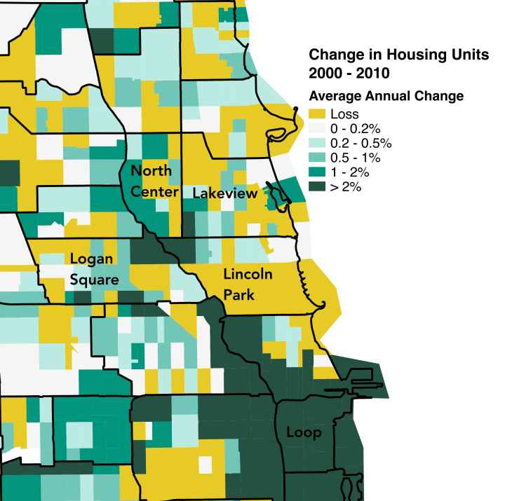 See How The Number Of Housing Units Has Changed In Select Chicago Neighborhoods From 2000