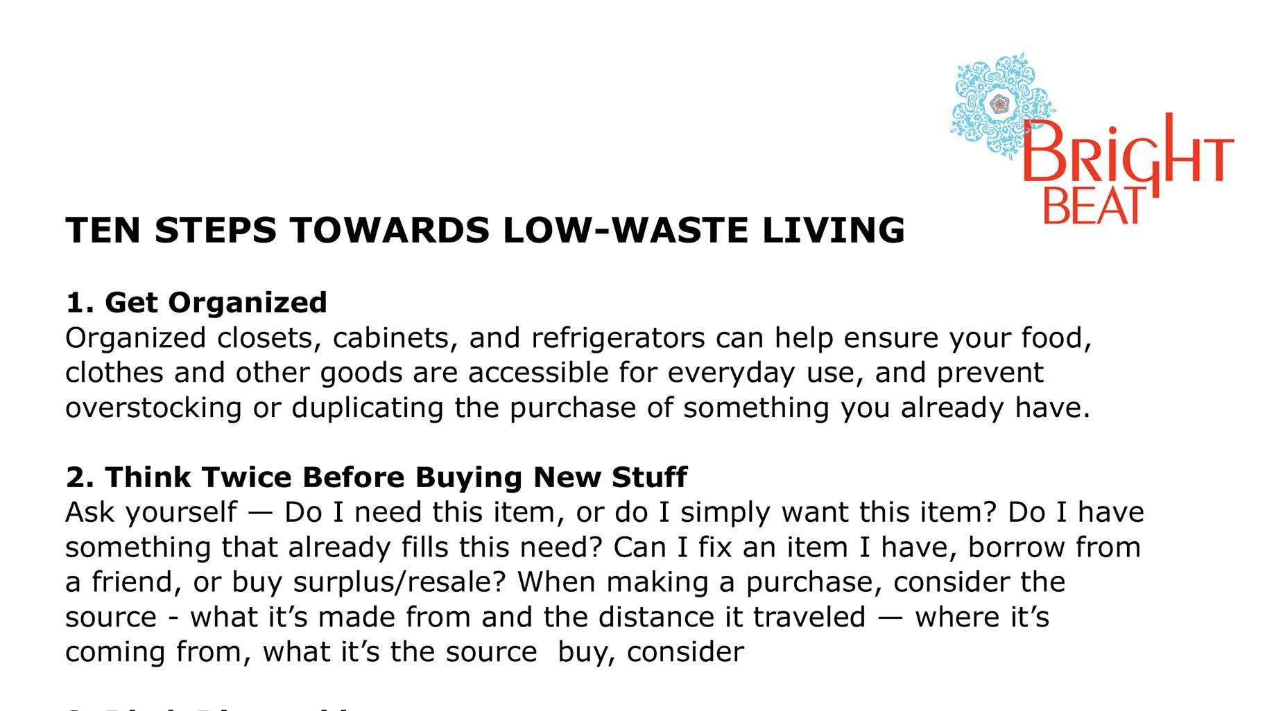 More: Stephanie Katsaros shares some of her best tips for low-waste living.