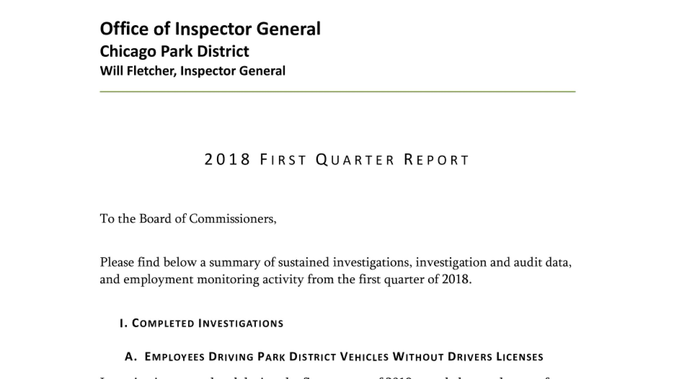 Document: Read the report