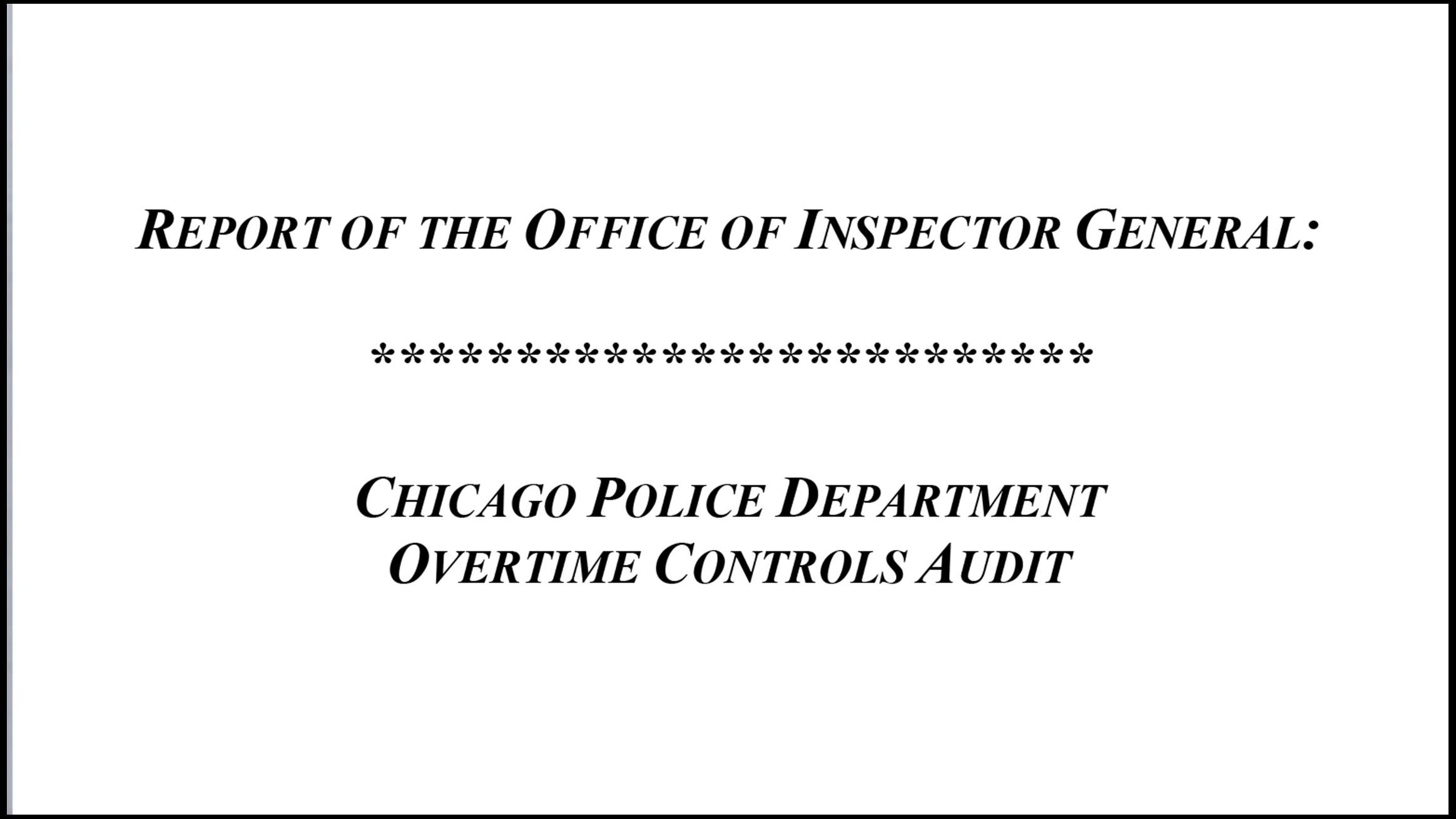 Document: Read the inspector general's report