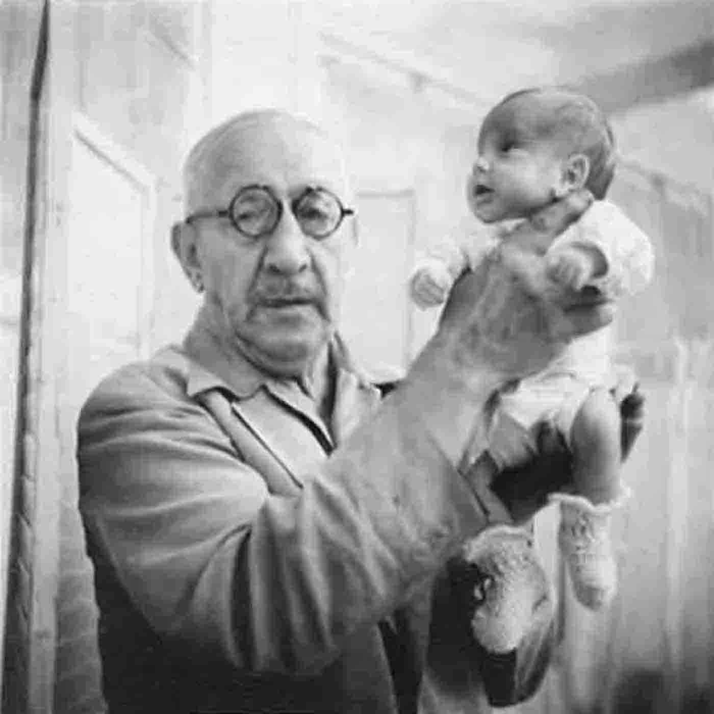 Dr. Couney holding a premature baby. He's credited with saving an estimated 7,000 children in the early 20th century.  (Courtesy Beth Allen)